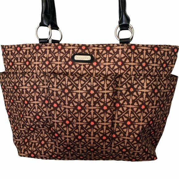 Baggallini Tote Bag Extra Large Brown Nylon NWOT
